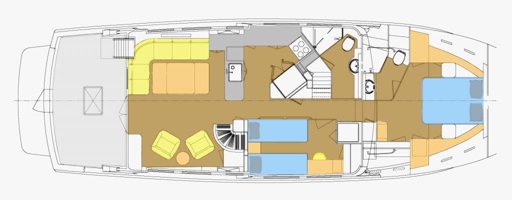 Kadey-Krogen 55 Main Deck